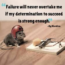 Anything you want to achieve you need a strong determination