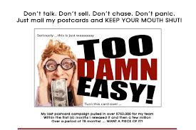 NO TALKING! NO SELLING! NO CHASING! NO HASSLE - Easy!