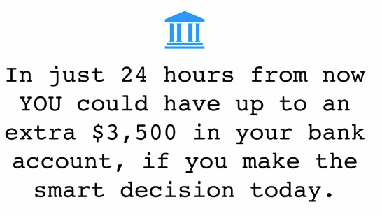 $3500 within 24 hours - Lol
