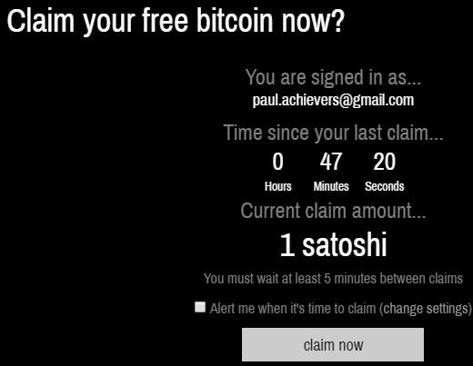 Claim Your Free Bitcoin