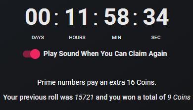 Faucet Claim Result