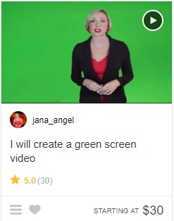 Selling gigs on Fiverr