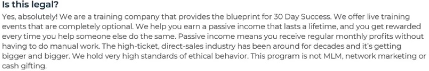 Is this program is not MLM, network marketing or cash gifting?