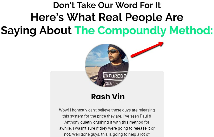 Testimony On The Compoundly Method Sales Page (New One)