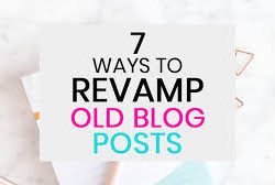 How To Update Old Blog Posts?