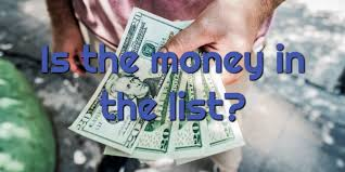 Is The Money Is In The List?
