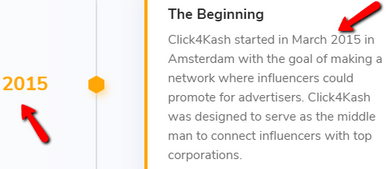 Is Click4Kash A Scam? - Launch Date On Their Site