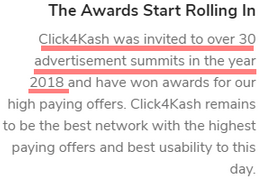 Is Click4Kash A Scam? - Fake Awards