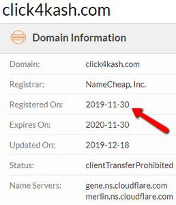 Is Click4Kash A Scam? - Domain Information On Whois.com