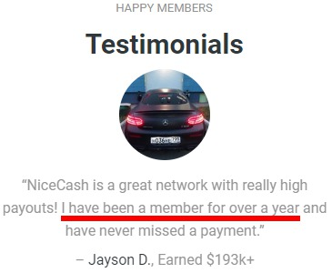 Is Nice Cash A Scam? - Fake Testimonies