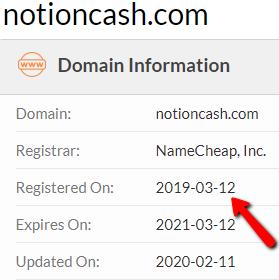 Is Notion Cash A Scam? - Original Launch Date