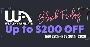 Wealthy Affiliate Black Friday 2020 Offer