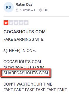 What Is ShareCashouts? -  Complaints