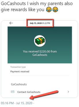 What Is GoCashouts? - Fake Income Proof 1