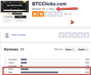 Is BTCClicks A Scam? - BTCClicks Rating