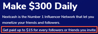 What Is Next Cash? - $15 Per Referral