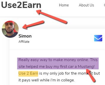 Earnbucks.co Review - Same Fake Testimony On Use2earn