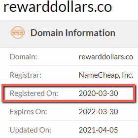 Is Reward Dollars A Scam? - Original Launch Date