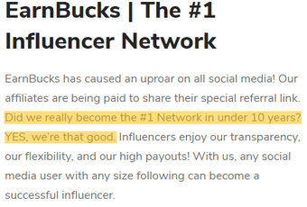 Earnbucks.co Review - #1 Influencer Network?