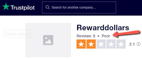 Is Reward Dollars A Scam? - Poor Rating