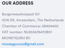 Is MoneyGuru A Scam? - Fake Address