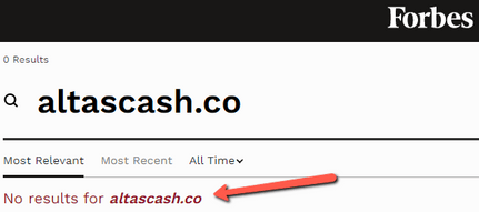 What Is AltasCash? - Not Found On Forbes