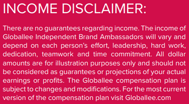 Is Globallee A Scam? - Income Disclaimer