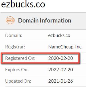 EZ Bucks Review - Registered Date