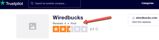 Is WiredBucks A Scam? - POOR Rating
