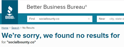 What Is Social Bounty? - No BBB Accreditation