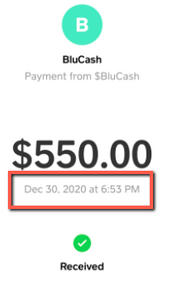 Blucash.co Review - Fake Payment Proof