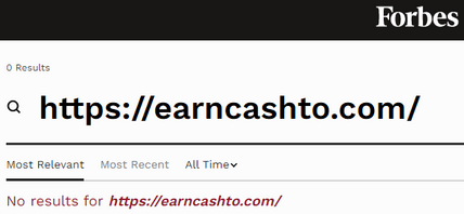 Is EarnCashTo A Scam? - Not Found On Forbes